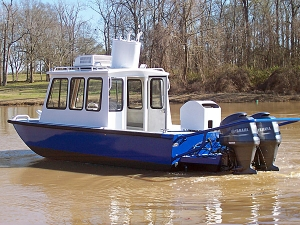 21 ft Cabin Work Boat Model 2184 - Deluxe