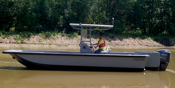 23 ft T-Top Work Boat Model 23108 - Deluxe